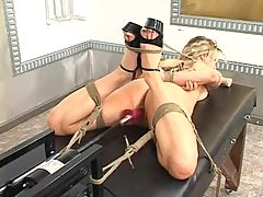 Bondage and fucking machines harmony rose 13