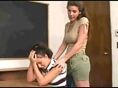 Dominant lesbian teacher gives a strapon lesson