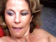Mature wife & stepdaughter take many cumshots