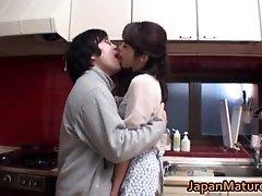 Horny japanese mature babes sucking and fucking cock ja