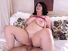 Plump Big Tit MILF Gets Fucked in the Ass by College Stud
