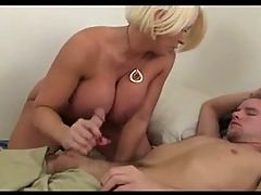 Blonde Busty Milf Alura Jenson gives a great Handjob
