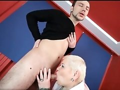 Nasty blonde hoe doctor lucia sucks hard cock 1 by drlu