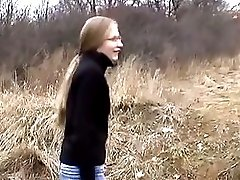 Young perky tit blonde girl loves to give road head to big dick boyfriend