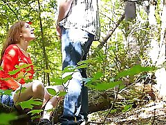 Forest blowjob