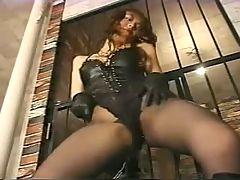 Tow dominatrix torture slave