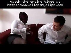 Plump ebony british hooker fucks a white guy black ebon