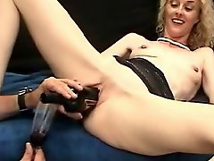 BOTTLE OF WINE PUSSY MILF INSERTION WheelSex