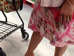 Up skirt at supermarket 2