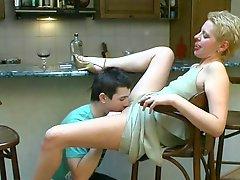 Bar sex she swallows