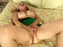 Blonde Granny Plays with Herself