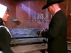 Daddy fucks Amish daughter in rustic cabin