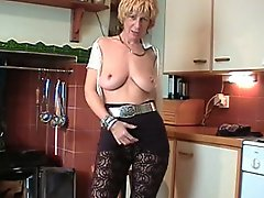 Horny Slutty English Milf Puts On A Show !