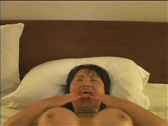 Asian mature gets creampied and facialized