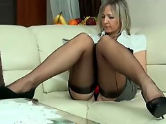 Milf ALA in seamed stockings & high heels