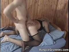 Big boobed blonde milf slut gets her pussy banged from