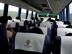 Milf Masturbates on Chinese Bus