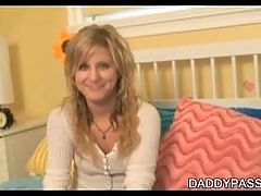 Little Lexi Sucks And Fucks Daddys Candy Stick For A Facial