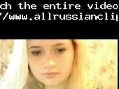 Webcam with sexy young russian blonde russian cumshots