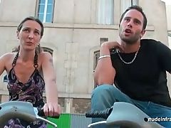 French slut hard sodomized gangbanged and facialized