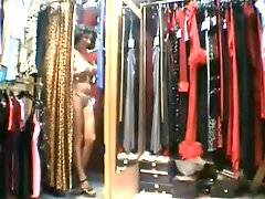 French MILF at the Lingerie Store
