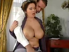 She Gets A Cumshot On Her Big Jiggly Tits