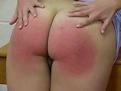 Bare ass spanking
