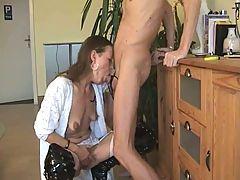 German wife deepthroat gagging bj