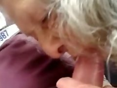 Granny Public BJ and Handjob