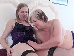 Two Filthy Mature Lesbian Sluts