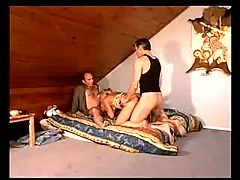 Sexy french mature knows what double penetration is