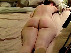 MILF rough spanking Crying