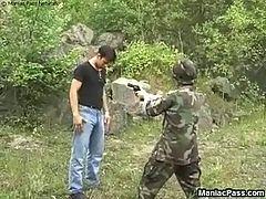 Army slut fucking maneuvers