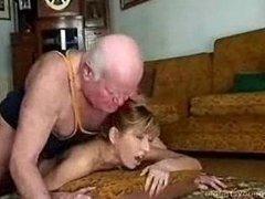 Grandpa Fucks His Teen Hooker for Cash