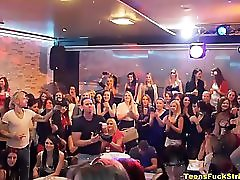 Horny Wives & Girlfriends Exposed At CFNM Party