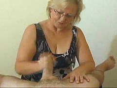 Mrs Watson gives another great handjob