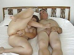 Mature Exhibitionist Couple Masturbating with small dildo