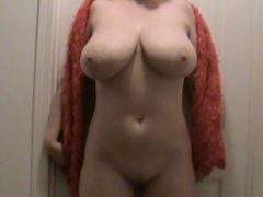Wife shows her sexy body to the camera