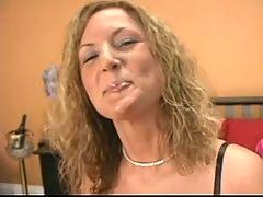 Brunette nympho uses vibrator to have loud orgasm