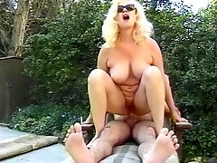 Busty mature ho rides cock
