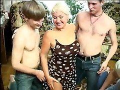 Mature wife gangbanged