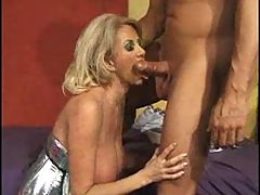 Blonde big titted MILF takes it hard in her ass FM14