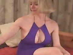 Mature Blonde Masturbating on Cam