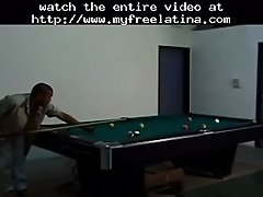 Two mexicans fuck after a game of pool latina cumshots