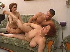 Old lady's orgie