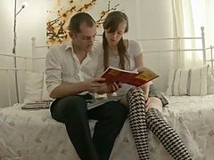 Russian Teen Student wants to learn but gets Fucked Instead