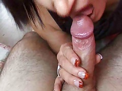 Short haired german milf loves blowjob