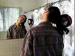Sexy Tomboy blows off steam masturbating in shower