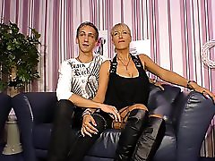 SexTape Germany Blonde MILF with silicone tits fucks for first time porn