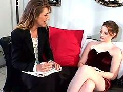 Cute Lesbian Teen Gia seduces her Teacher